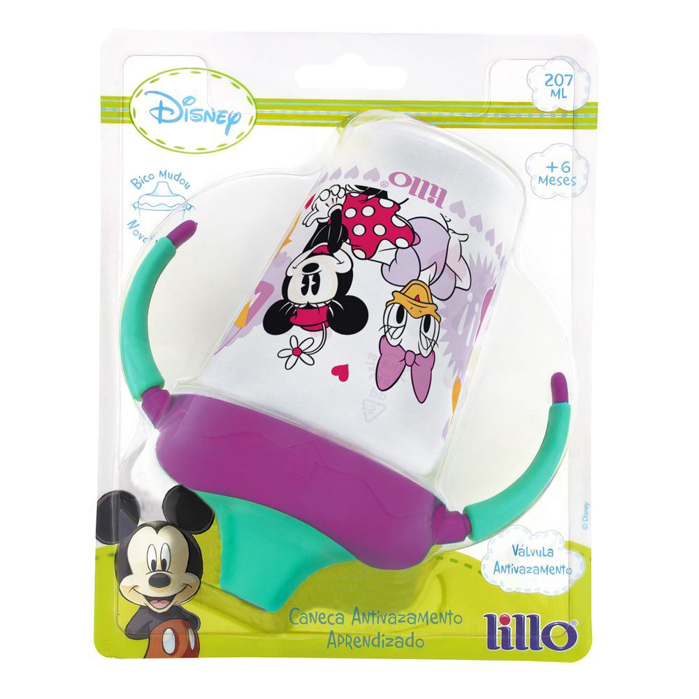 Caneca Antivazamento Aprendizado Disney Minnie 207ml